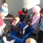 Children learn about water flow